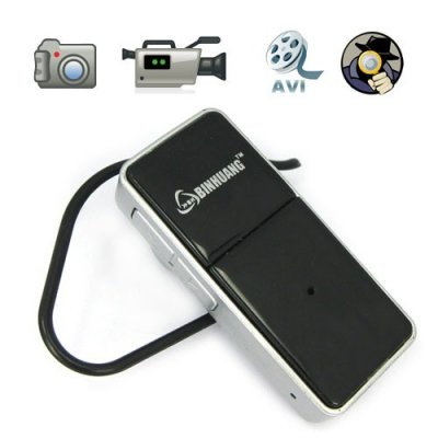 Wireless Headset Type Mini DVR with Hidden Spy Camera